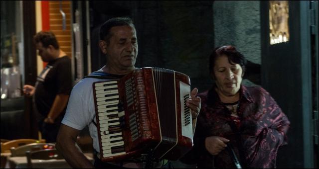 Harmonikás és társa